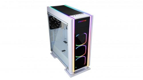 Enermax Saberay White: Gaming-Gehäuse mit ARGB-Beleuchtung