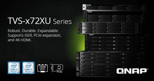 QNAP TVS-x72U: Rackmount-NAS mit bis zu 24 Festplatteneinschüben
