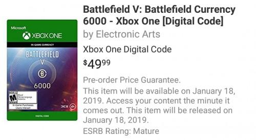 Battlefield 5: Einführung von Mikrotransaktionen ab Januar 2019 geplant