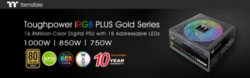 Thermaltake New Toughpower iRGB PLUS Gold Series 1