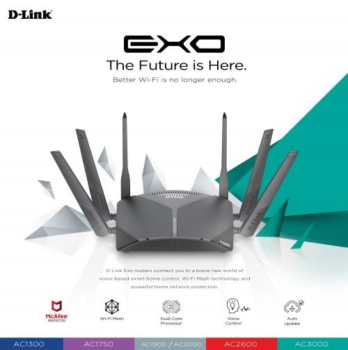 D-Link stellt neue Mesh-Router der Exo-Serie vor