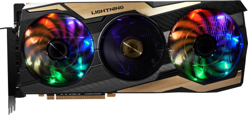 Bild: MSI GeForce RTX 2080 Ti Lightning Z: Die goldene Grafikkarte mit OC-Features