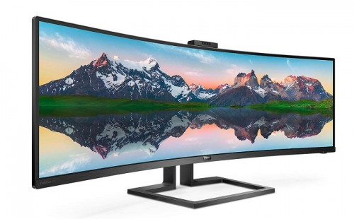 Philips 499P9H Brilliance: 49 Zoll großer SuperWide-Curved-Monitor
