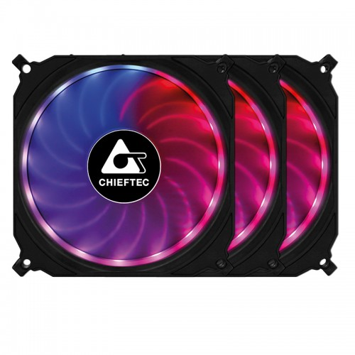 Chieftec Tornado: RGB-Lüfter mit Sync-Funktion im 3er-Pack