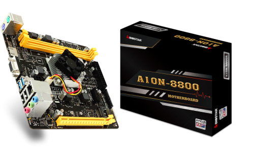 Biostar A10N-8800E SoC: Mainboard mit integrierter AMD-APU