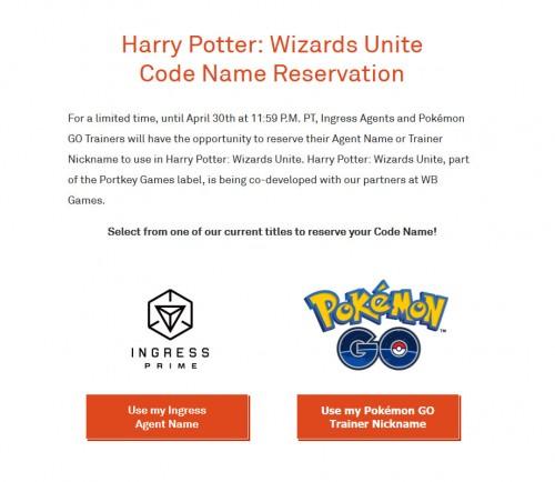 Harry Potter: Wizards Unite - Jetzt Nickname aus Pokemon GO oder Ingress sichern