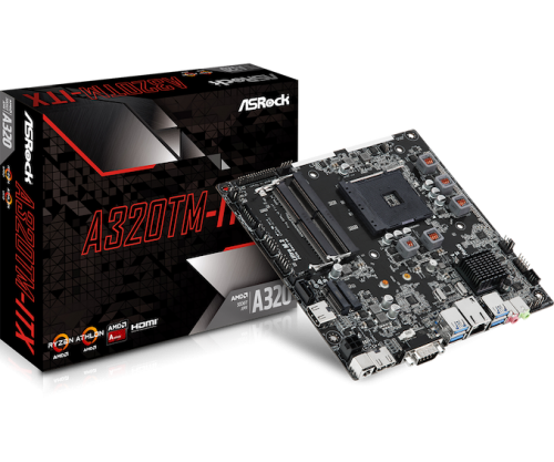 ASRock A320TM-ITX: Thin-ITX-Mainboard für AMD-CPUs