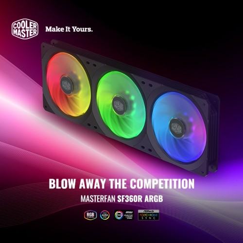 Cooler Master: MasterFan SF-Serie mit RGB-LEDs vorgestellt
