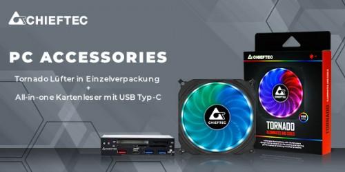 Chieftec stellt neues PC-Zubehör mit All-in-One-Kartenleser und Lüfter vor