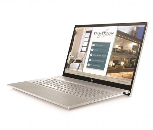 HP ENVY 17 in Natural Silver Pale Birch Front Left