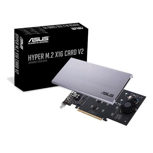 Asus Hyper M.2 X16 V2: M.2-Controller-Karte für den PCI-Express-Slot