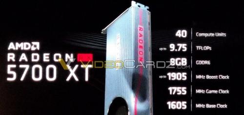 AMD Radeon RX 5700 XT: 40 CUs und 8 GB GDDR6-Speicher