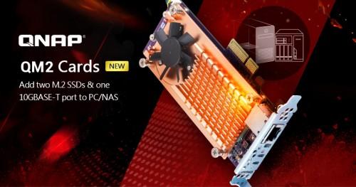 QNAP QM2: PCIe-Erweiterungskarte mit Dual-M.2-Slot und 10-GbE-Port