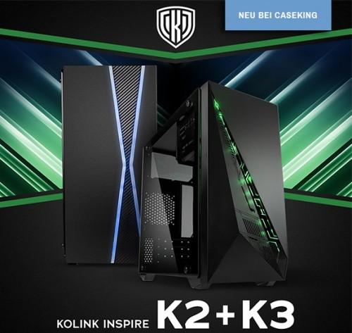 Kolink K2 und K3: mATX-Gehäuse ab sofort bei Caseking erhältlich