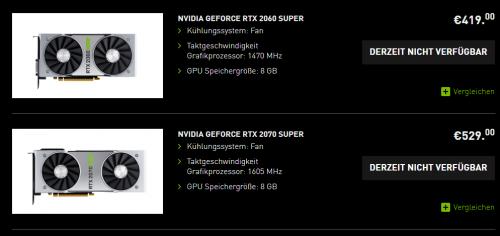 Nvidia GeForce RTX Super: Grafikkarten kaum erhältlich