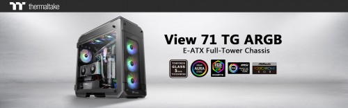 Bild: Thermaltake View 71: Tempered-Glass-Gehäuse als ARGB-Edition