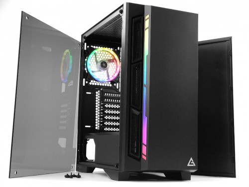 Bild: Antec NX400: Mid-Tower mit RGB-LEDs in der Front