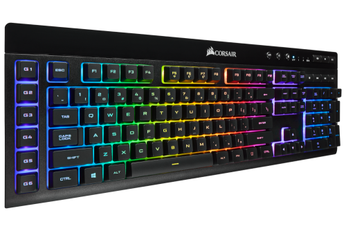 Corsair K57 RGB Wireless Gaming Tastatur mit lebendigen Lichteffekten