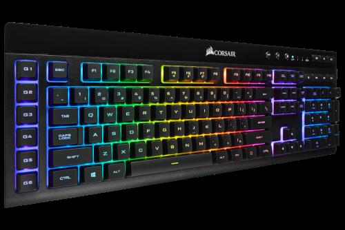 Bild: Corsair K57 RGB Wireless Gaming Tastatur mit lebendigen Lichteffekten
