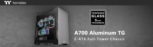 Thermaltake A700 Aluminium: E-ATX-Gehäuse mit gehärtetem Glas