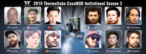 Bild: Thermaltake CaseMOD Invitational Season 2 mit zwölf Top-Moddern