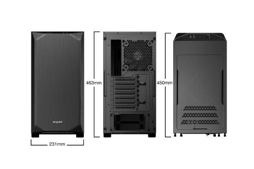 be quiet! Pure Base 500: Ein kompaktes und geräumiges PC-Gehäuse