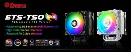Bild: Enermax ETS T50 AXE ARGB: 230-Watt-Kühler mit LED-Beleuchtung