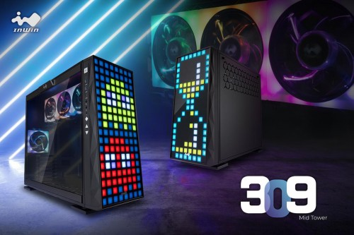 InWin 309: Midi-Tower mit 144 LEDs in der Front