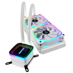 Enermax Aquafusion: AiO-Wasserkühler in Weiß mit ARGB-Beleuchtung