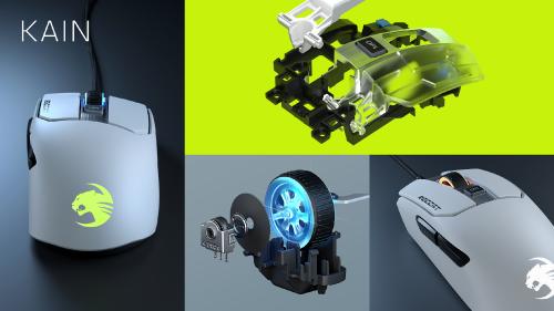 Roccat Kain: Gaming-Maus mit verbessertem Titan-Click-Mechanismus