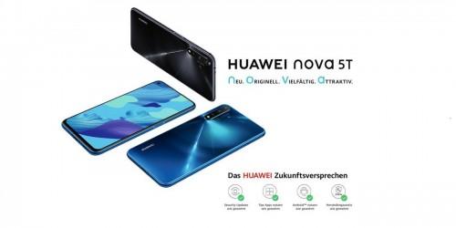 Huawei Nova 5T: Smartphone mit Kirin-980-SoC und 48 MP Kamera