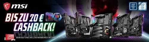Bild: MSI mit bis zu 70 Euro Cashback auf Intel-Bundles