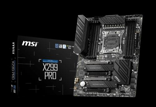 MSI mit neuen X299-Mainboards für Intel-Core-X-CPUs