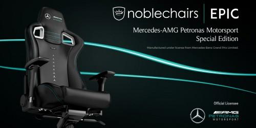 Nobelchairs präsentiert Epic Gaming Stuhl in der Mercedes-AMG-Variante