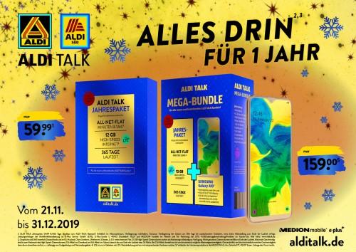 Aldi Talk ab sofort mit Jahrespaketen ab 59,99 Euro
