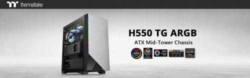 Bild: Thermaltake H550 TG ARGB: Mid-Tower-Gehäuse mit Beleuchtung