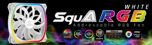 Bild: Enermax SquA RGB White: Neue quadratische RGB-Lüfter in Weiß