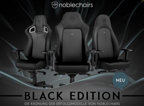 Caseking: Neue noblechairs in der Black Edition