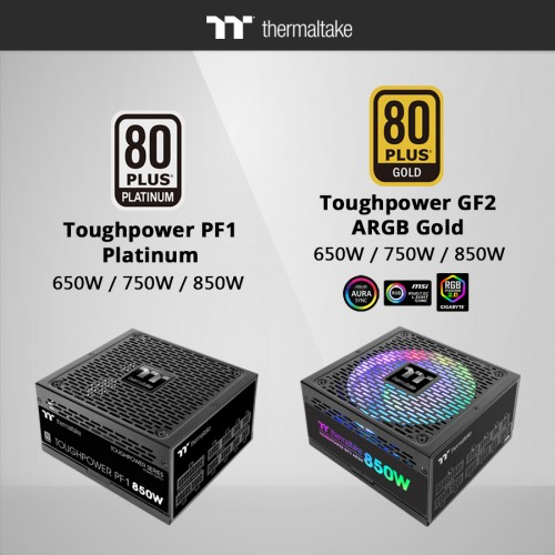 Thermaltake Toughpower PF1 Platinum and GF2 Gold Power Supply 1