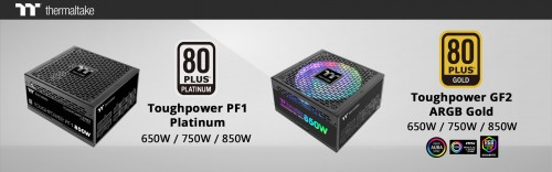 Bild: Thermaltake Toughpower PF1 und Toughpower GF2
