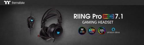 Bild: Thermaltake RIING Pro RGB 7.1: Gaming-Headset mit Beleuchtung