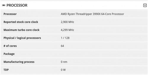 Ryzen Threadripper 3990X: Erstmals im 3D Mark Time Spy getestet