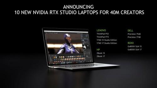 Nvidia RTX Studio: Zertifizierte Notebooks für professionelle Anwender
