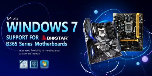 Biostar gibt Mainboards mit B365-Chipsatz für Windows 7 frei
