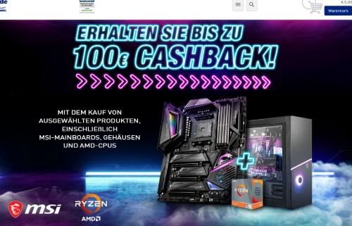 Bild: MSI und Mindfactory: Cashback-Aktion mit bis zu 100 Euro