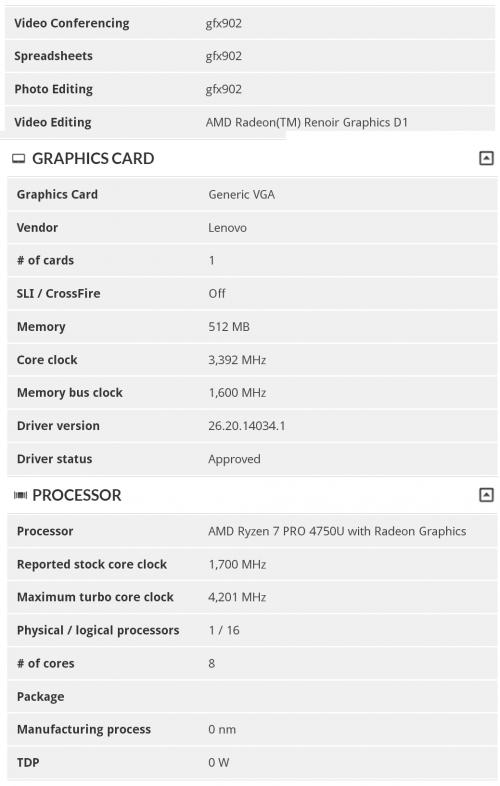 AMD Ryzen 7 Pro 4750U im neuen Lenovo ThinkPad?