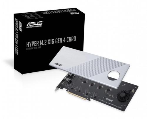 Asus Hyper M.2 X16 Gen4Card: PCIe-SSD-Adapter mit RAID