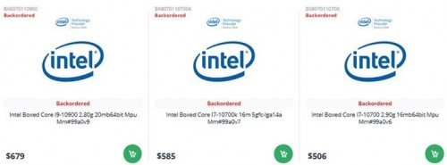 Intel core i 10th preise