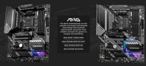 MSI stellt B550-Mainboards der MPG-, MAG-, und Pro-Serien vor