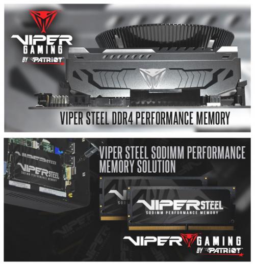 Patriot Viper Gaming: Neue DDR4-Module mit bis zu 32 Gigabyte
